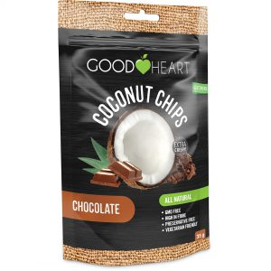 Good Heart Coconut Chips - Chocolate